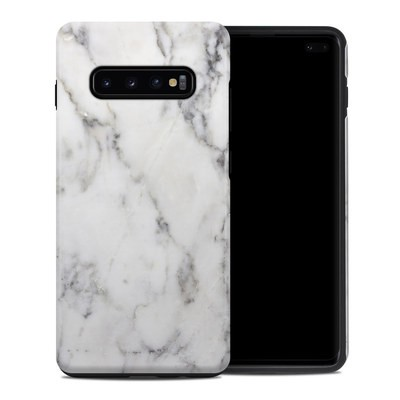 Samsung Galaxy S10 Plus Hybrid Case - White Marble
