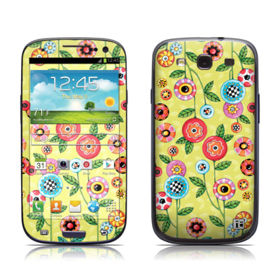 Samsung Galaxy S III Skin - Button Flowers
