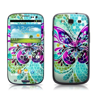 Samsung Galaxy S III Skin - Butterfly Glass