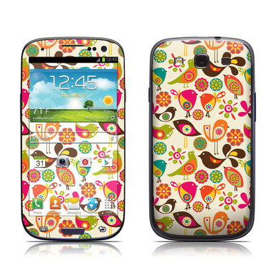 Samsung Galaxy S III Skin - Bird Flowers