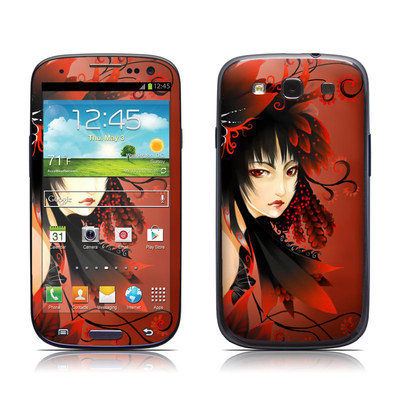 Samsung Galaxy S III Skin - Black Flower