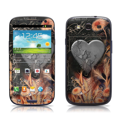 Samsung Galaxy S III Skin - Black Lace Flower