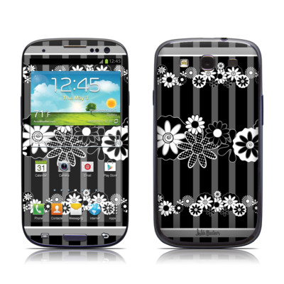 Samsung Galaxy S III Skin - Black Retro