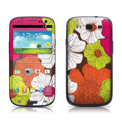 Samsung Galaxy S III Skin - Brown Flowers