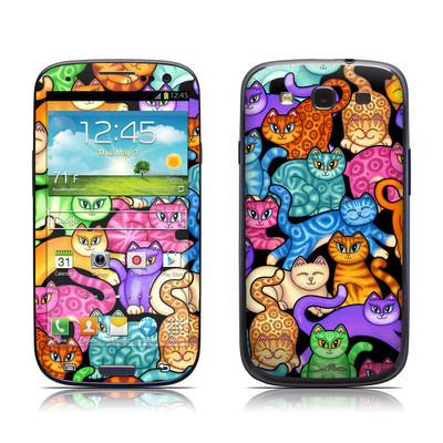 Samsung Galaxy S III Skin - Colorful Kittens