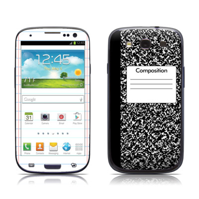 Samsung Galaxy S III Skin - Composition Notebook