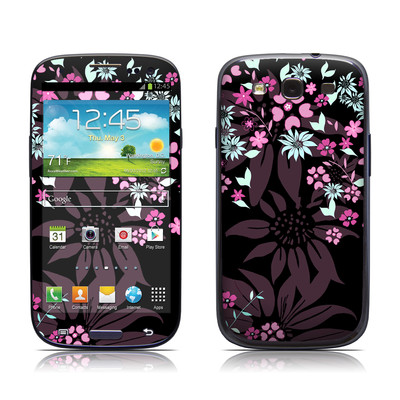 Samsung Galaxy S III Skin - Dark Flowers