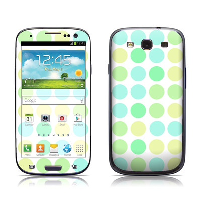 Samsung Galaxy S III Skin - Big Dots Mint