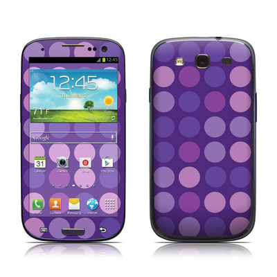 Samsung Galaxy S III Skin - Big Dots Purple
