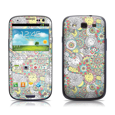 Samsung Galaxy S III Skin - Faded Floral
