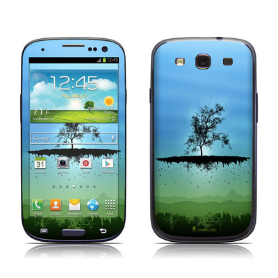 Samsung Galaxy S III Skin - Flying Tree Blue