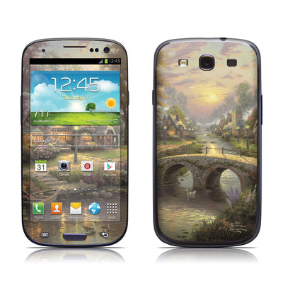 Samsung Galaxy S III Skin - Sunset On Lamplight Lane