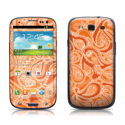 Samsung Galaxy S III Skin - Paisley In Orange