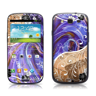 Samsung Galaxy S III Skin - Purple Waves