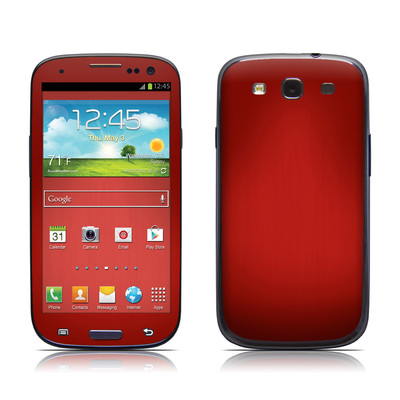 Samsung Galaxy S III Skin - Red Burst
