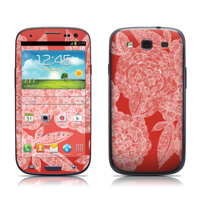 Samsung Galaxy S III Skin - Red Dahlias