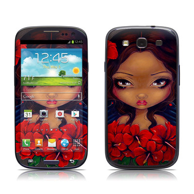 Samsung Galaxy S III Skin - Red Hibiscus Fairy