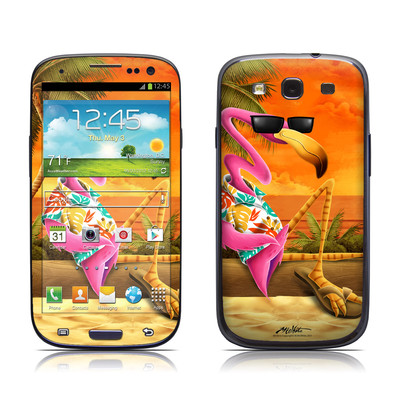 Samsung Galaxy S III Skin - Sunset Flamingo