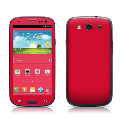 Samsung Galaxy S III Skin - Solid State Red
