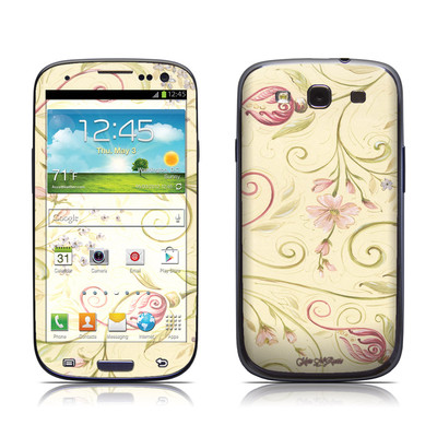 Samsung Galaxy S III Skin - Tulip Scroll