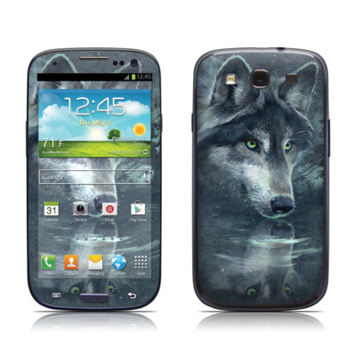 Samsung Galaxy S III Skin - Wolf Reflection
