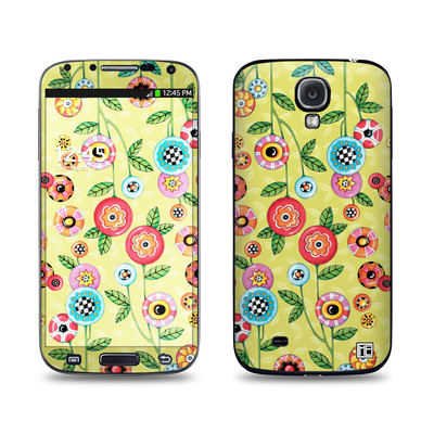 Samsung Galaxy S4 Skin - Button Flowers