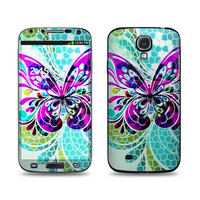Samsung Galaxy S4 Skin - Butterfly Glass