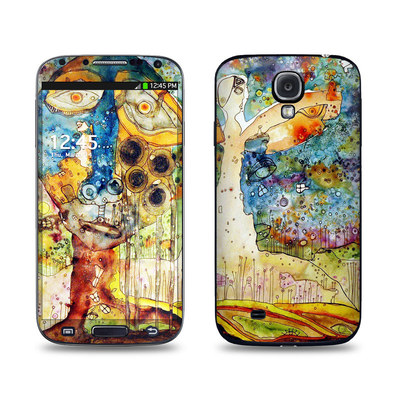 Samsung Galaxy S4 Skin - Blue Hello