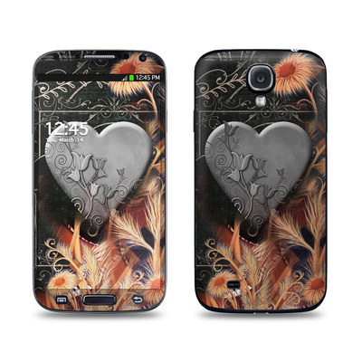 Samsung Galaxy S4 Skin - Black Lace Flower