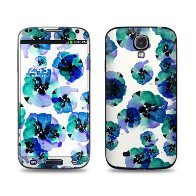 Samsung Galaxy S4 Skin - Blue Eye Flowers