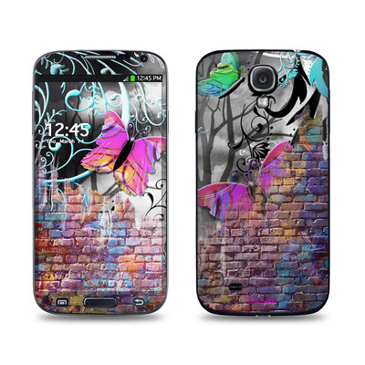 Samsung Galaxy S4 Skin - Butterfly Wall