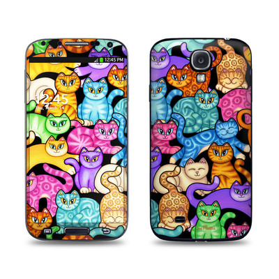 Samsung Galaxy S4 Skin - Colorful Kittens
