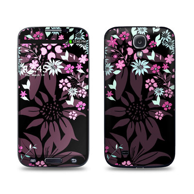 Samsung Galaxy S4 Skin - Dark Flowers