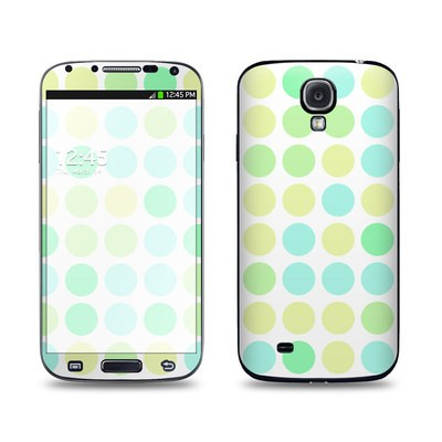 Samsung Galaxy S4 Skin - Big Dots Mint
