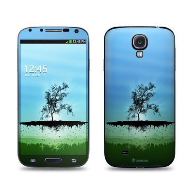 Samsung Galaxy S4 Skin - Flying Tree Blue
