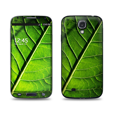 Samsung Galaxy S4 Skin - Green Leaf