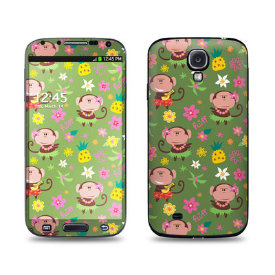 Samsung Galaxy S4 Skin - Hula Monkeys