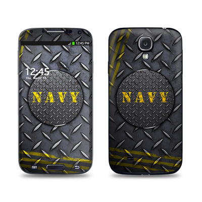 Samsung Galaxy S4 Skin - Navy Diamond Plate