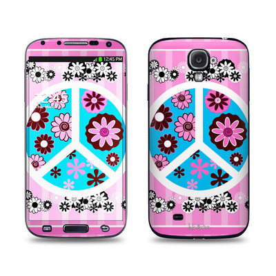 Samsung Galaxy S4 Skin - Peace Flowers Pink