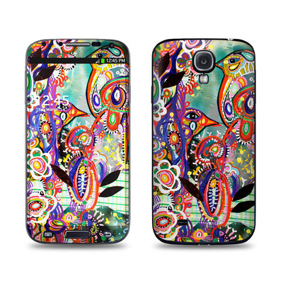 Samsung Galaxy S4 Skin - Purple Birds