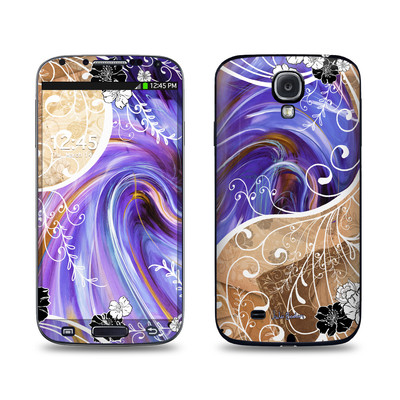 Samsung Galaxy S4 Skin - Purple Waves