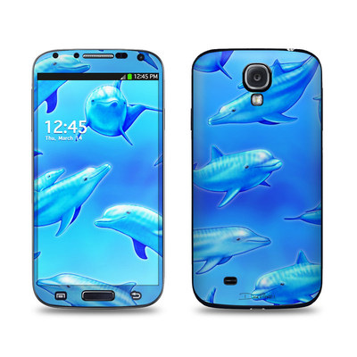 Samsung Galaxy S4 Skin - Swimming Dolphins