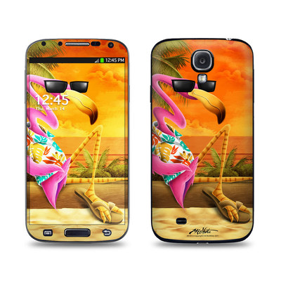 Samsung Galaxy S4 Skin - Sunset Flamingo