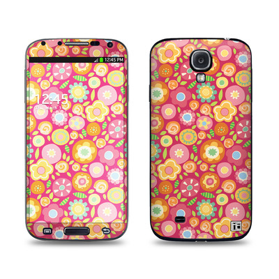 Samsung Galaxy S4 Skin - Flowers Squished