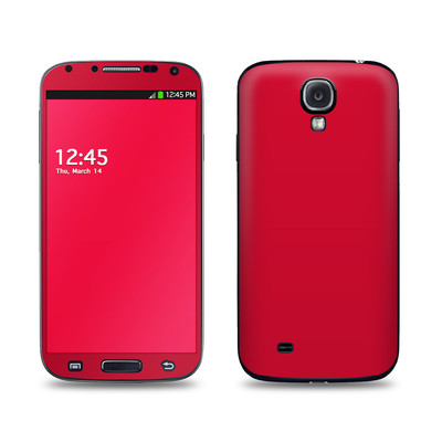 Samsung Galaxy S4 Skin - Solid State Red