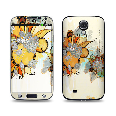 Samsung Galaxy S4 Skin - Sunset Flowers