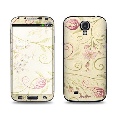 Samsung Galaxy S4 Skin - Tulip Scroll
