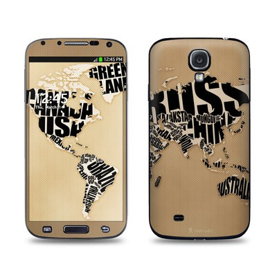 Samsung Galaxy S4 Skin - Type Map