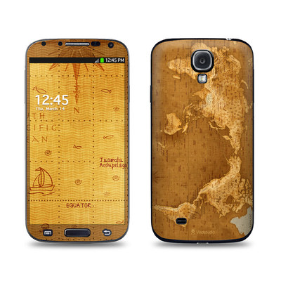 Samsung Galaxy S4 Skin - Upside Down Map