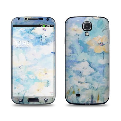Samsung Galaxy S4 Skin - White & Blue